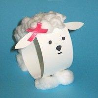 Paper Loop Lamb Craft - cute!