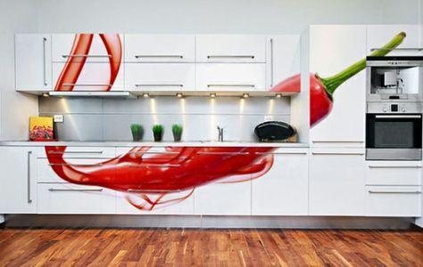 Scharfe Pepperoni Auf Dem Küchenschrank | Wohnideen | Pinterest