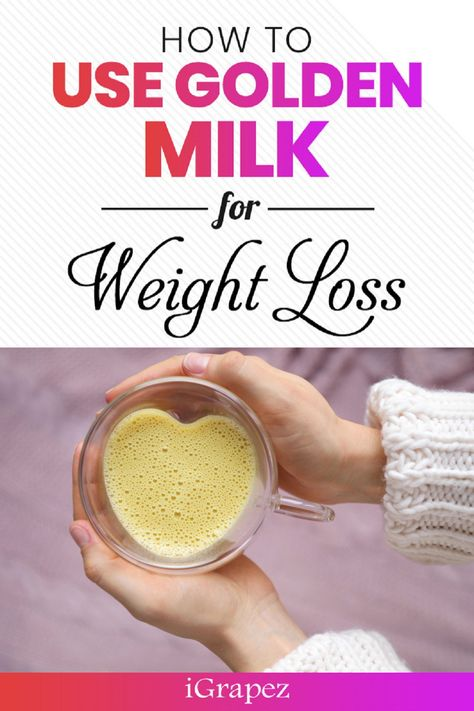 Learn how to use golden milk for weight loss. #goldenmilk #weightlosstips #healthyliving #iGrapez