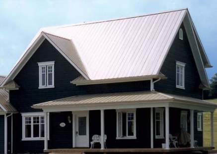 New House White Siding Metal Roof 57 Ideas House Metal Roof Houses Metal Roofs Farmhouse House Exterior