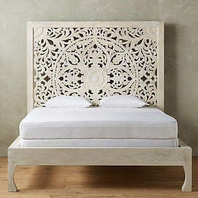 Balinese Hand Carved Decorative Bed Headboard Headboards For Beds White Wooden Headboard Carved Headboard