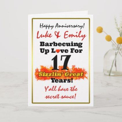 Happy Any Anniversary Year Funny Bbq Up Love Card Funny Anniversary Cards Anniversary Funny Anniversary Cards