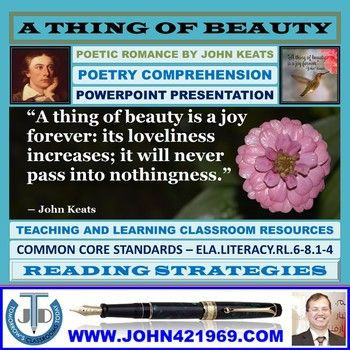 A Thing Of Beauty By John Keats Powerpoint Presentation John