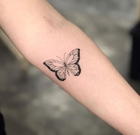 classic butterfly tattoo discovered by Aphrodite butterfly tattoo - Tattoo #discovered #classic #Tattoo