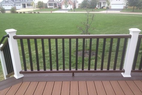 Two Tone Trex Deck And Railings In Huntley Built By Rock Solid