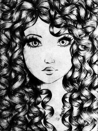 Desenho Menina Cacheada Ilustracao De Maquiagem Desenhos De