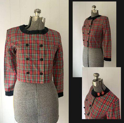 Vintage 1980s does 50s midi PLAID SHIRTDRESS size 8 10 German Make Pockets
