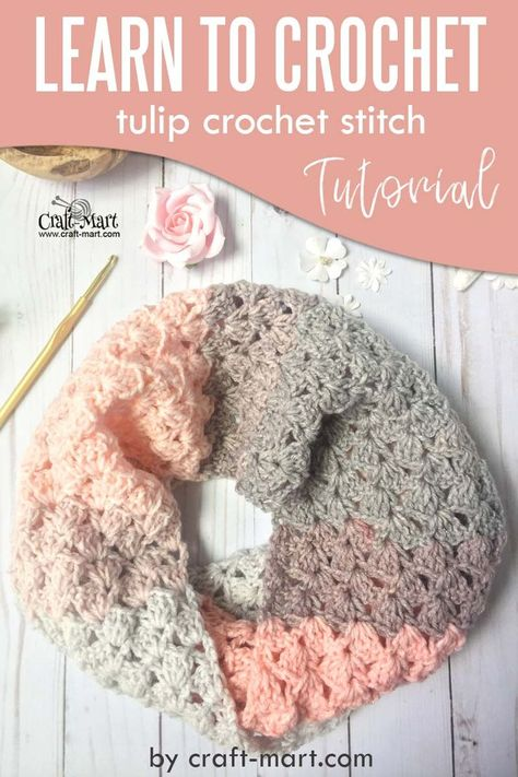 How to Crochet: Lacy Crochet Scarf Pattern and Tutorial by craft-mart - learn to crochet this unique crochet scarf pattern to create a fast crochet scarf with an easy crochet scarf patterns for beginners (using only doube crochet and chain stitches) Fast Crochet, Easy Crochet Stitches, Crochet Scarf Easy, Crochet Scarves, Crochet Scarf Tutorial, Crocheted Scarf, Knit Cowl, Crochet Flower, Learn To Crochet