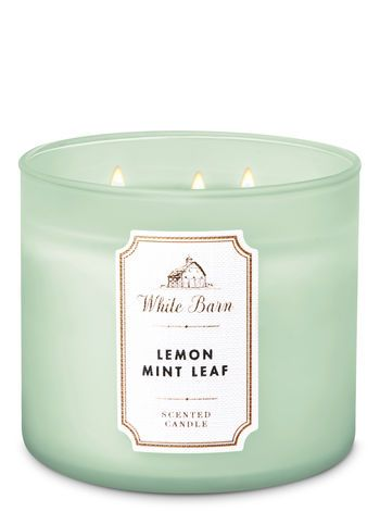 White Barn Lemon Mint Leaf 3 Wick Candle Bath And Body Works Scented Candle Brands Bath Body Works Candles Mint Candles