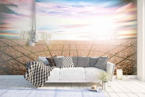 Football Stadium Mural With Paste Wall Murals Ireland Low Cost Furniture