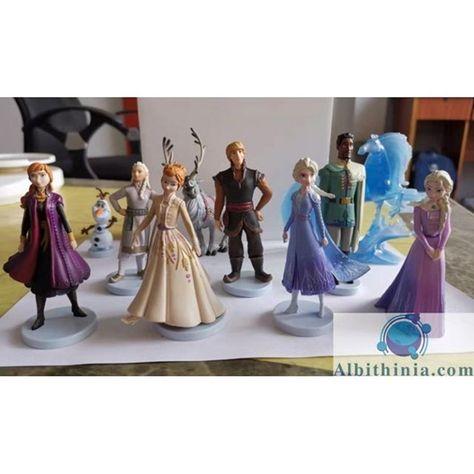 Lote De 10 Figuras Frozen 2 Con Caballo Elsa Ana Olaf Frozen