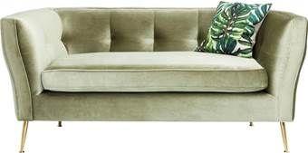 2 Zits Bank Design.Kare Design Rimini 2 Zits Bank B160 Cm Groen Fluweel Fluweel