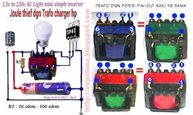 Joule Thief 1 5v Mini Inverter Dgn Trafo Bekas Charger Hp