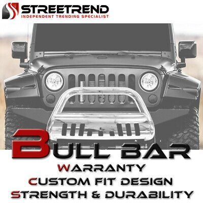 Sponsored Ebay For 2010 2018 Jeep Wrangler Jk Stainless Bull Bar Push Bumper Grill Grille Guard Jeep Wrangler Wrangler Jk
