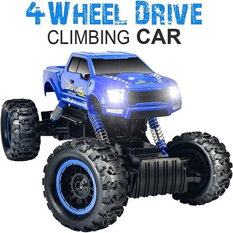 DOUBLE E 1 12 RC Cars Monster Truck 4WD Dual Motors Rechargeable Off Road  Remote Control Truck 063685e696be