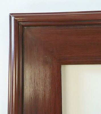 Picture Frame 11x14 Cherry Brown Color Dark Grain Highlights Wood Gesso 38c Fashion Home Garden Picture Frames Wood Picture Frames Gold Picture Frames