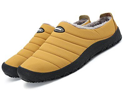 c425a853944c9 welltree Women Men Indoor Outdoor Slippers Fur Lined Winter Waterproof Clog  House Shoes Review