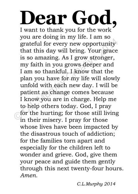 Instant download!  2 PDF Files.    Recovery  Sobriety  A Day at a Time.  Help in time of need.  Gratitude.    From my Dear God series.  Prayer.