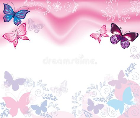 Background with flowers and butterflies. Pink background with flowers and butter , #Sponsored, #flowers, #Background, #butterflies, #background, #Pink #ad