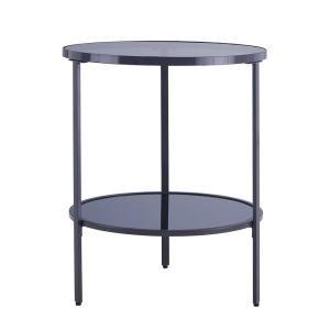 Homecraft Furniture Espresso 3 Tier End Table Mh125 C Glass Top Side Table Glass Side Tables Side Table