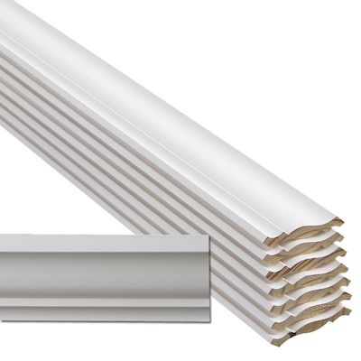 Flip Face 8 Pack 3 5 8 In X 12 Ft Primed Crown Moulding Actual