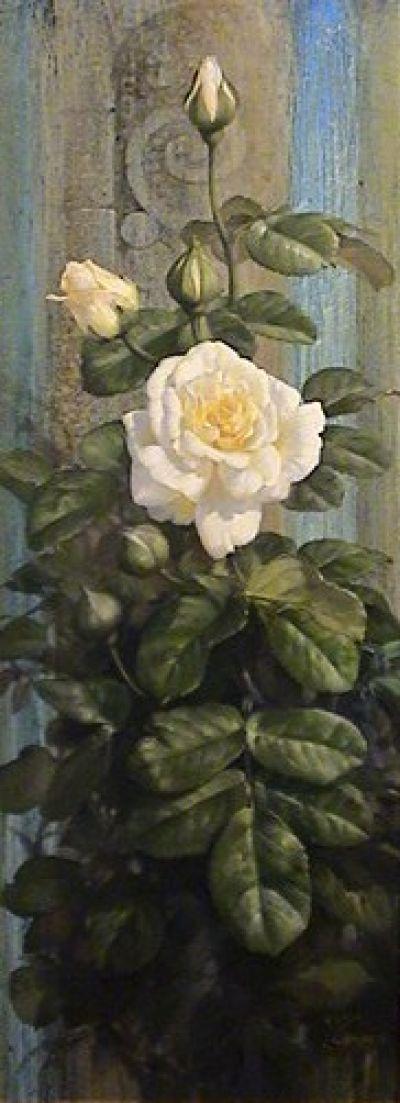 White Rose Oil painting
