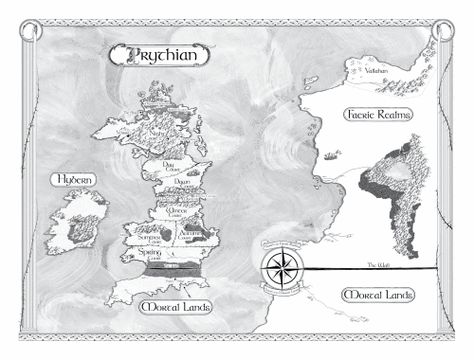 Prythian Map For Sarah J Maas A Court Of Thorns And Roses