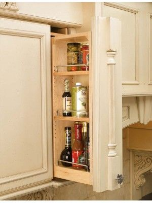Rev A Shelf 6 Inch Wall Filler Pullout 30 Inch H Natural 432 Wf 6c Kitchen Wall Cabinets Rev A Shelf Wood Spice Rack