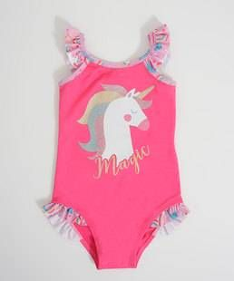 Maio Infantil Estampa Unicornio Protecao Uv Moda Para Meninas