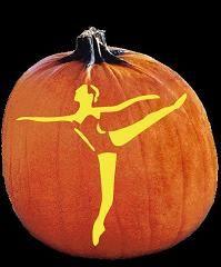 Free Printable Ballerina Silhouette Pumpkin Carving Pattern | Kids ...