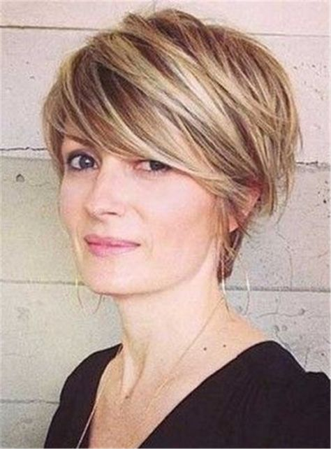 Mixed Color Bangs Short Straight Capless Synthetic Hair Women Wigs