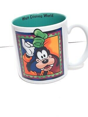 Vintage Disney Goofy Mug White Green Heavy Coffee Cup Made In Thailand Condition Is Used No Chips Cracks Or Re Vintage Disney Mugs Vintage Mickey Mouse Club