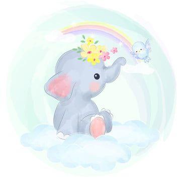 Bebe Elefante Nubes Y Arcoiris Bebe Elefante Clipart Fondo De Ninos Antecedentes Png Y Vector Para Descargar Gratis Pngtree Dibujos De Animales Tiernos Nubes Y Arcoiris Ilustraciones De Animales