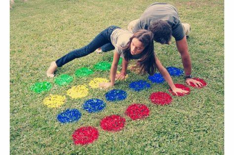 Sommer Party im Freien spiele spaß tupfen farben