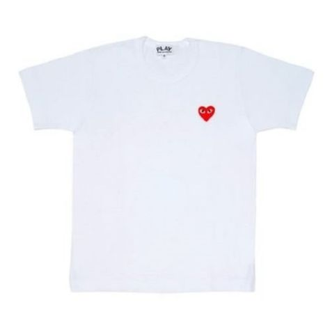 56cab593 Comme des Garçons: PLAY White Tshirt Super cute CDG shirt with the  signature red heart! Not entirely positive this is authentic, a friend  bought it for me ...