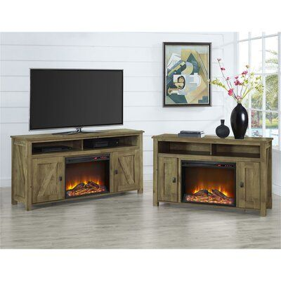 Mistana Whittier Tv Stand For Tvs Up To 60 Inches With Electric Fireplace Included Wayfair In 2020 Fireplace Tv Stand Electric Fireplace Fireplace Tv