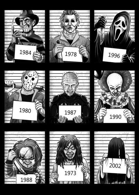 """Horror Movies Prison Ghostface Scream artwork by artist """"Alessio Magliano"""". Horror Movie Costumes, Horror Movie Tattoos, Horror Movies Funny, Horror Movie Characters, Classic Horror Movies, Horror Movie Posters, Slasher Movies, Horror Movie Quotes, Netflix Horror"""