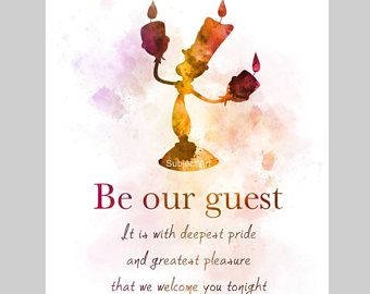 Be Our Guest Bridal Shower Invitations Disney Beauty The Beast