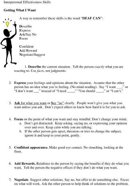 Pin By Danielle Hannemann On Dbt Skills Dialectical Behavior Therapy Interpersonal Effectiveness Dbt