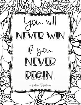 Growth Mindset Inspirational Quotes Doodle Coloring Pages Coloring Pages Quote Coloring Pages Doodle Coloring