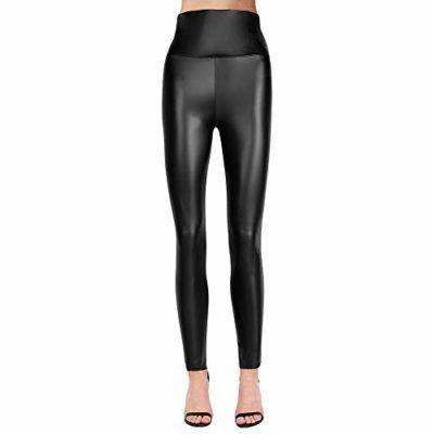 17c4c2e2f7 teemzone Mujer Pu Leggings cuero Skinny Elásticos pantalones