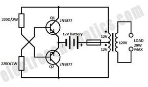 on dc to ac inverter schematic