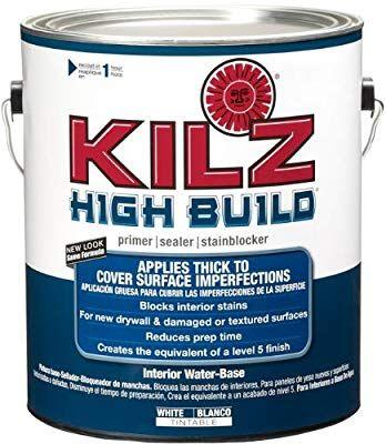 Kilz High Build Surface Healing Primer Interior Water Based Primer Sealer White 1 Gallon House Primers Amazon Removable Wallpaper Kilz Water Based Primer