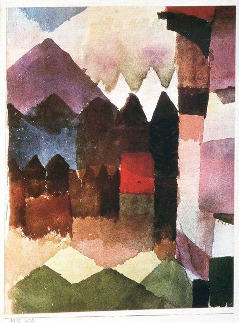Viento Del Sur En El Jardín De Marc 1915 102 Paul Klee 1915 Kunst Ideeën Idee Verf Inspirerende Kunst