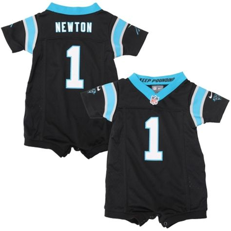 Nike Cam Newton Carolina Panthers Newborn Game Romper Jersey - Black ... 13f0e9165