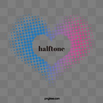 2019 的 Halftone Style Heart Creative Text Box Text Box