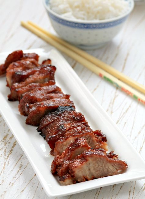 Char Siu - Chinese Barbecued Pork by mybarecupboard #Pork #Barbecue #Chinese