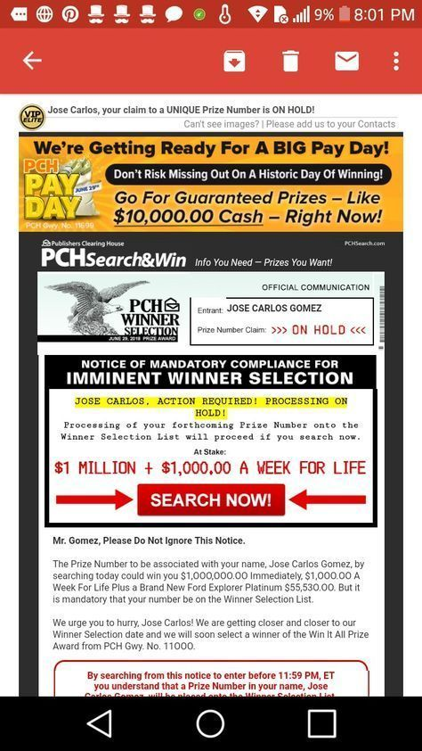 Pch 1 Million Superprize And claim in 2019 Publisher clearing