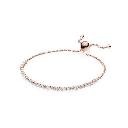 Sparkling Slider Tennis Bracelet Rose Gold Bracelet Pandora Necklace Diamond Bracelet Design