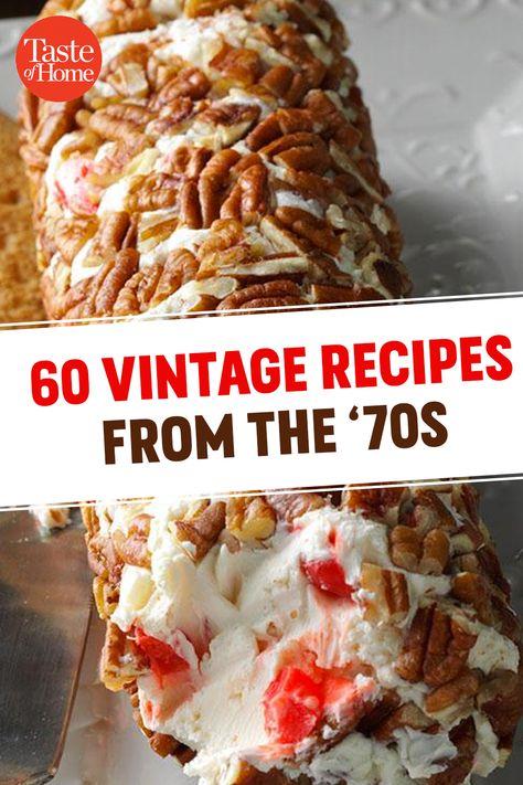 Retro Recipes, Vintage Recipes, Great Recipes, Favorite Recipes, Family Recipes, 70s Food, Good Food, Yummy Food, Special Recipes